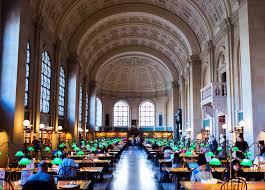 mckim building copley square boston public library reading room