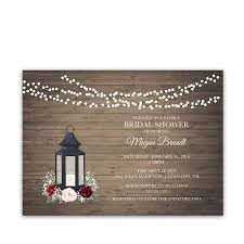 rustic bridal shower invitations rustic bridal shower invitations lantern burgundy florals