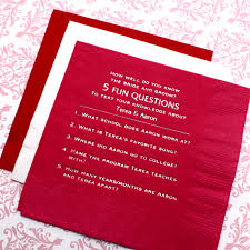 personalized wedding napkins questionnaire beverage napkins 50 pcs personalized napkins