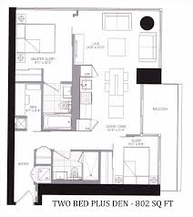 5 st joseph condos one two bedrooms for sale 5 st joseph floorplan two bed 802 sq ft contact yoss kaplan