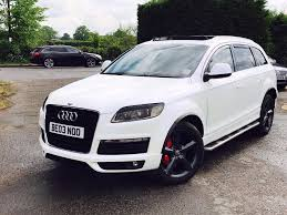 Audi Q7 Blue - audi q7 panoramic roof dvd peral white with blue effect in