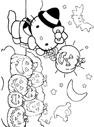 cartoon kitty halloween coloring pages coloring pages