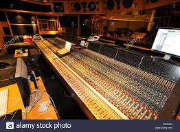 Producer Studio Desk by Sound Recording Studio Mixing Desk With Engineer Or Music Producer