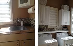How To Install Glass Mosaic Tile Backsplash In Kitchen Casalupoli Laundry Room Update Glass Mosaic Backsplash