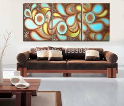 Wall Art Sets For Living Room Hand Painted Modern Canvas Painting Oil Picture 3 Piece