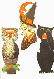 vintage halloween fabrics 17 best vintage halloween decor images on pinterest