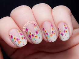 tutorial easy splattered floral nail art inspired by nail u0027d it