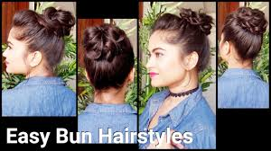 2 easy messy bun hairstyles with bunstick hairstyles for medium