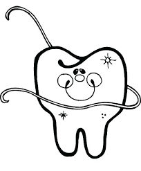 tooth coloring pages dental health example picture of dental