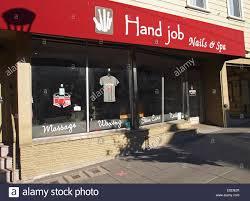 hand job nails u0026 spa castro street san francisco stock photo