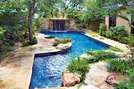 Patio That Turns Into Pool Swimming Pool With Natural Garden Patio By Enclosing The Pool In