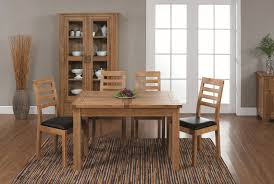 chunky 4ft solid oak dining table 4 cream leather scroll solid