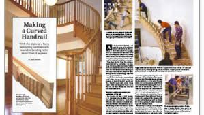 Curved Handrail Making A Curved Handrail Fine Homebuilding