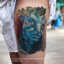 avatar tattoo by sunny bhanushali at aliens tattoo india