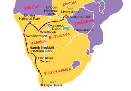 africa map kalahari desert 19 day desert tracker topdeck sedunia travel