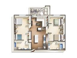 Floor Plans For Apartments 3 Bedroom by 1 2 3 U0026 4 Bedroom Apartments For Rent At Blvd63