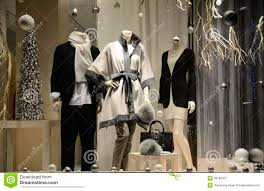 display window from a clothing store stock image image 28184621