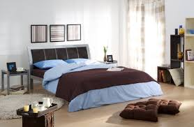 masculine rustic bedroom metal chrome bed side table elegant