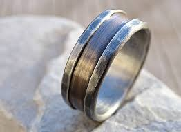 halloween wedding rings amazon com bronze ring silver bronze wedding band alternate
