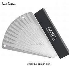 wholesale 12 different eyebrow template magic eyebrow stencil eye
