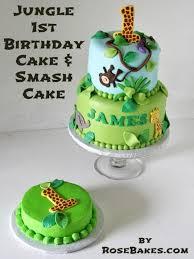jungle theme cake jungle 1st birthday cake smash cake bakes