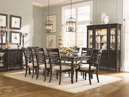 classic furniture glen cove 5 piece rectangular leg dining set in