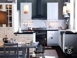 White Ikea Kitchen Cabinets Kitchen Elegant Black And White Ikea Kitchen Decoration Using