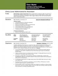 entry level administrative assistant resume sample best and