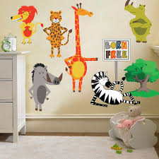 jungle animals wall decals for nursery color the walls of your house jungle animals wall decals for nursery childrens born free animals jungle wall