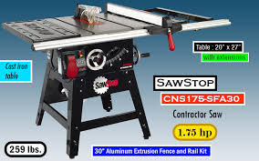 sawstop professional cabinet saw 1 75 hp best cabinet saw reviews of the best cabinet table saws for