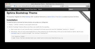 html themes sphinx twitter bootstrap theme for sphinx loose bits