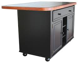 monarch kitchen island sunset trading antique black kitchen island with cherry trim and