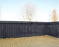 balkon sichtschutz kunststoff amazon de gartenfreude polyrattan sichtschutz balkon matte oder