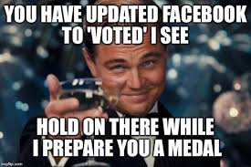I Voted Meme - leonardo dicaprio cheers meme imgflip