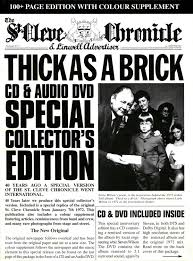 jethro tull thick as a brick 1972 cd dvd 2012 chrysalis