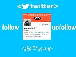 membuat widget twitter di website creating twitter like follow system using php and jquery
