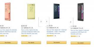 amazon wireless black friday special amazon black friday deals discounts offers on sony xperia x
