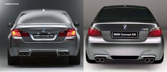 photo comparison bmw e60 m5 concept vs f10 m5 concept