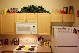 decorating ideas for upper kitchen cabinets kitchen