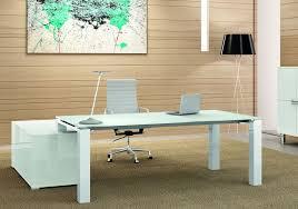 grand bureau blanc bureau direction verre blanc laqué cubeglass achat vente