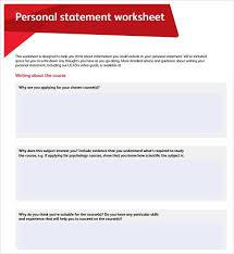 4 free personal statement templates word excel sheet pdf