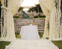 wedding arch lace wedding wisteria flower backdrops artificial hanging flowers