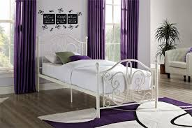 Metal Bedroom Furniture Dhp Bombay White Metal Bed Walmart Canada