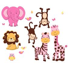 buy safari wall decals and safari wall art to create your own mural pink jungle wall decorations with zebra print wall decals for girls