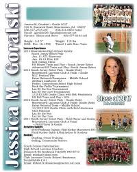 98 best sports resumes recruiting flyers images on pinterest