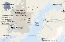 Alaska Flight Map by Ntsb Headed To Lake Clark After Discovery Of Debris Linked To