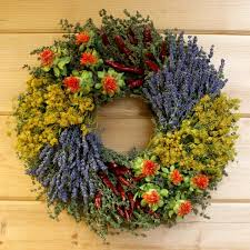 herb wreath herbal wreath with dill fragrant wreaths by creekside farms