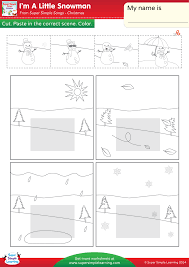 i u0027m a little snowman worksheet u2013 weather super simple