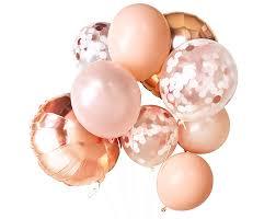 gold balloons blush gold balloon bundle paperboy