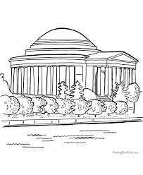 memorial coloring pages jefferson memorial coloring pages 021
